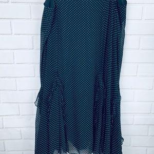 Lauren Ralph Lauren polka dot ruffle skirt silk 18